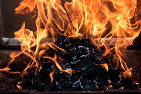 fire, coal