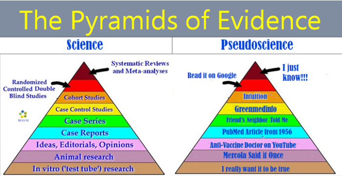 Vax Pyramid of evidence